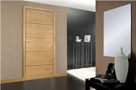 Internal Oak Door with Wenge Inlays