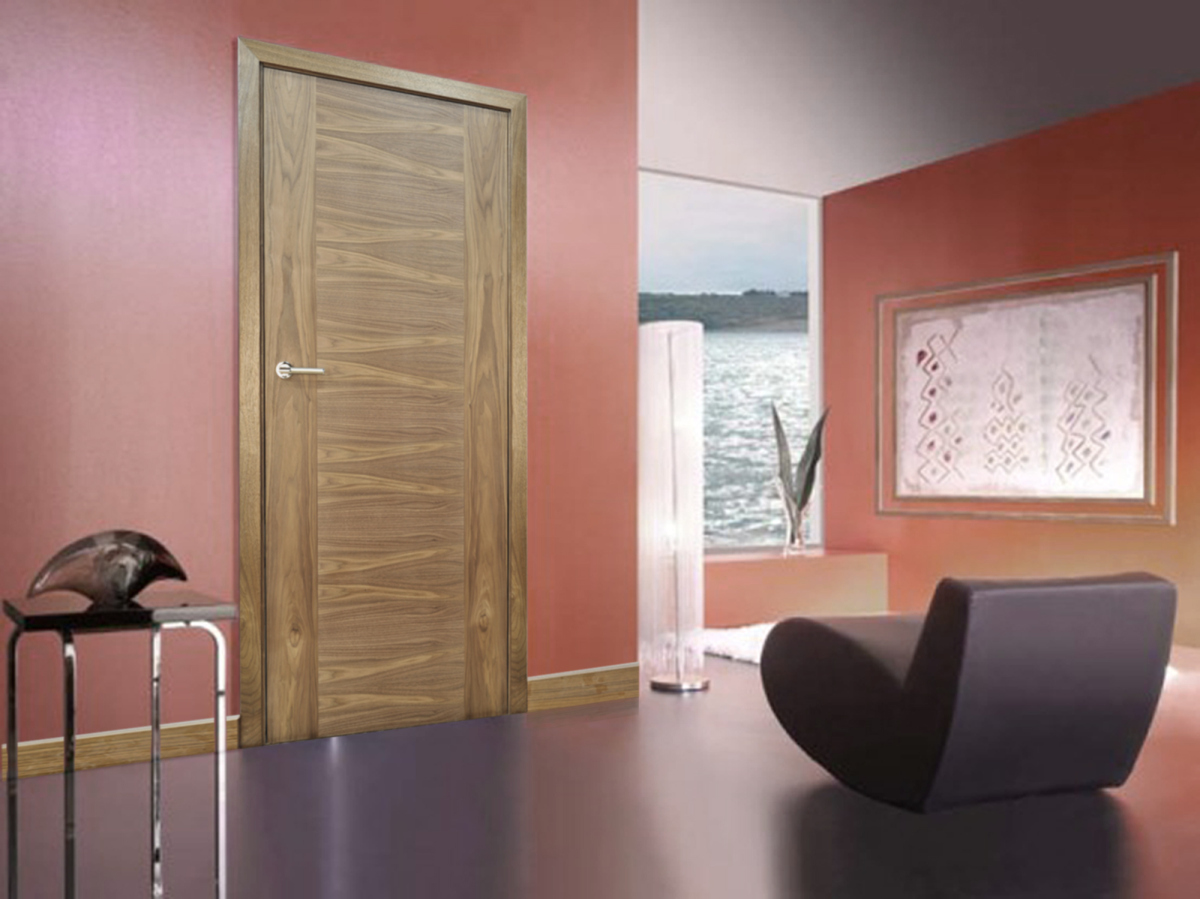 Modern Internal Walnut Bespoke Door