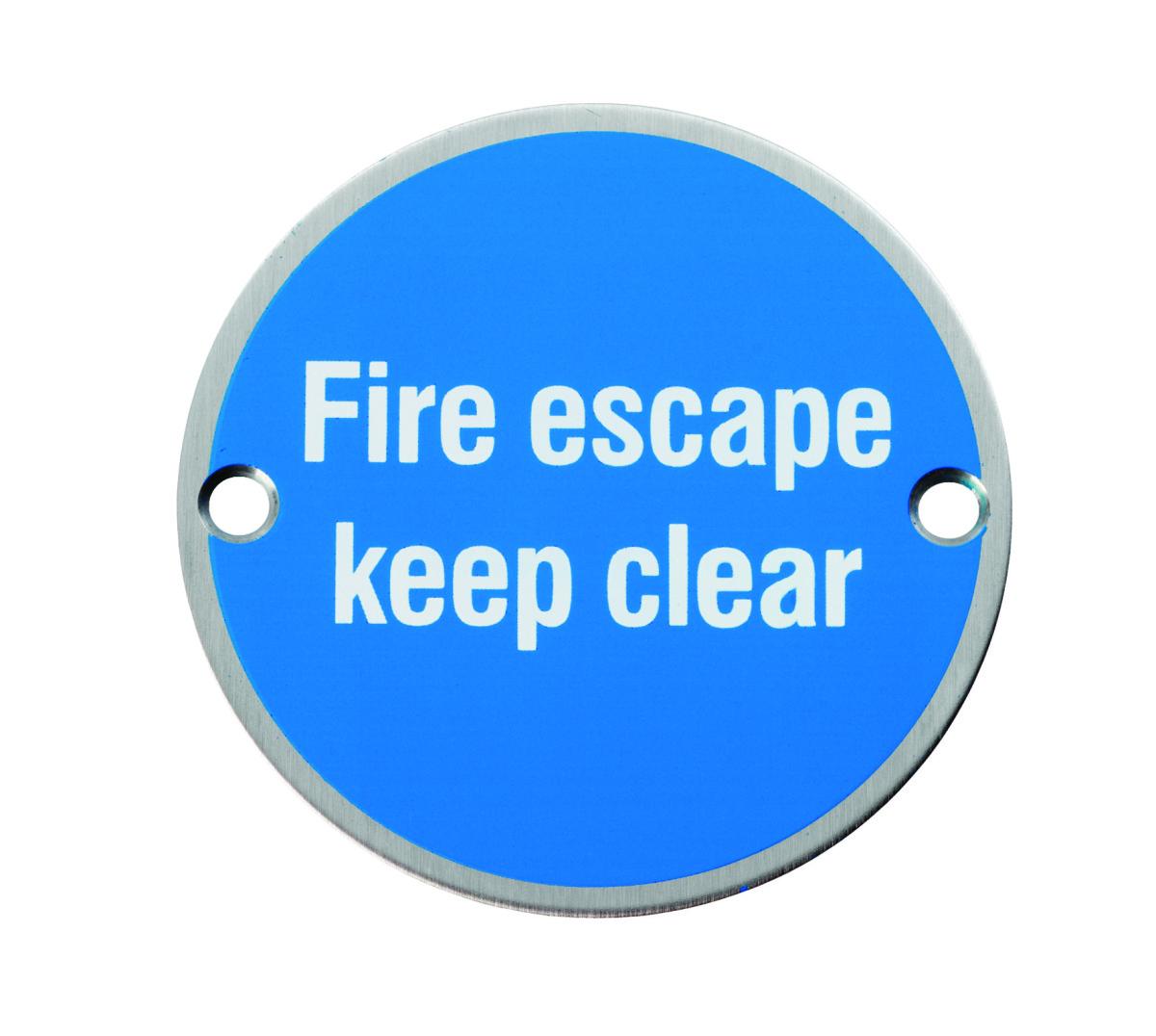 Fire Escape Internal Door Sign