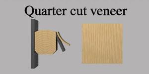 Quarter cut veneer for internal doors