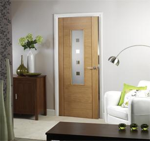 Modern Internal Oak Fire Door