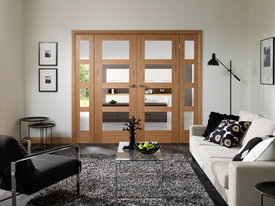 W6 Oak Shaker Internal Room Divider
