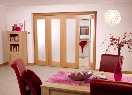 4 door Pattern 10 Oak Internal Folding Set