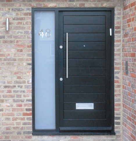 wooden front doors with glass side panels 1