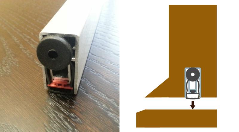 EuroSpec ES1218 51dB Concealed, Automatic Drop Down Door Bottom Seal