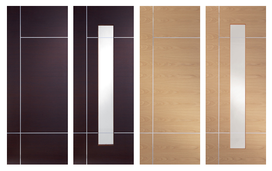 Modern Caserta Internal Doors with Aluminium strips