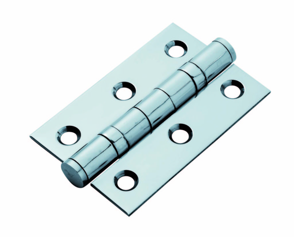 Types of door hinges - Ball bearing cabinet hinge for light loads in polished chrome