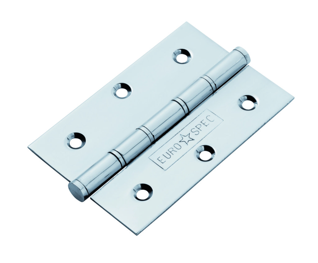 Types of door hinges - Washered hinge in polished chrome