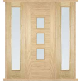 Arta Oak External Double Side Panel Door Set