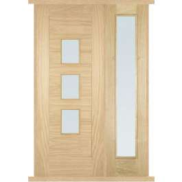 Arta Oak External Side Panel Door Set