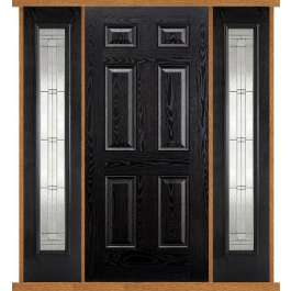Colonial Black Composite Double Side Panel Door Set