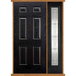 Colonial Black Composite Side Panel Door Set