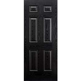 Colonial 6P Black Composite External Door