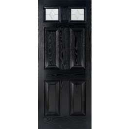 Colonial Glazed Black Composite External Door