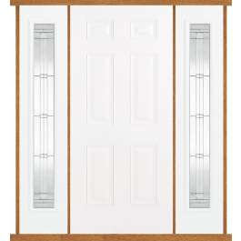 Colonial White Composite Double Side Panel Door Set
