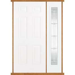 Colonial White Composite Side Panel Door Set