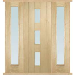 Copenhagen Oak External Double Side Panel Door Set