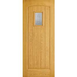 Cottage Glazed Oak Composite External Door
