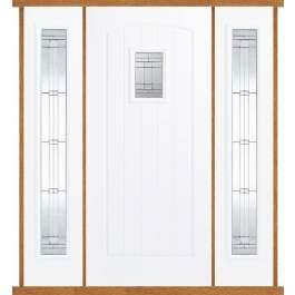 Cottage White Composite Double Side Panel Door Set