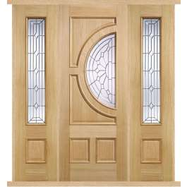 Empress Oak External Double Side Panel Door Set