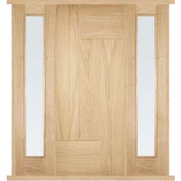 Fernando Oak External Double Side Panel Door Set
