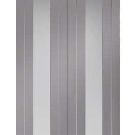 Forli Light Grey Clear Glazed Rebated Pair
