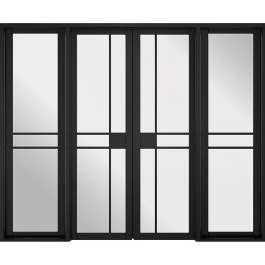 Greenwich Black Room Divider W8