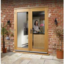La Porte Oak French Door Set