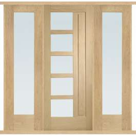 Lucca Oak External Double Side Panel Door Set