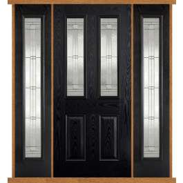Malton Black Composite Double Side Panel Door Set