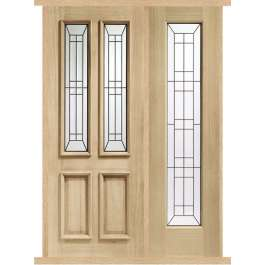 Malton Diamond Oak External Side Panel Door Set