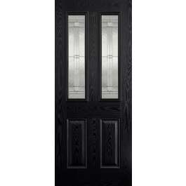 Malton Glazed Black Composite External Door
