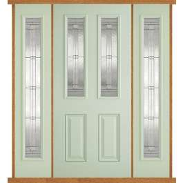 Malton Green Composite Double Side Panel Door Set
