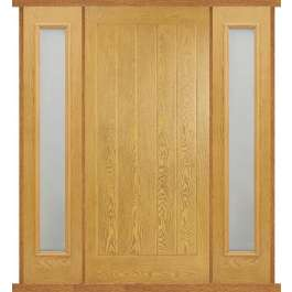 Mexicano Oak Composite Double Side Panel Door Set
