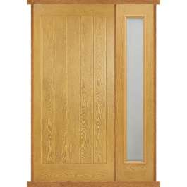 Mexicano Oak Composite Side Panel Door Set