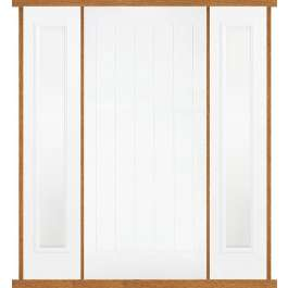 Mexicano White Composite Double Side Panel Door Set