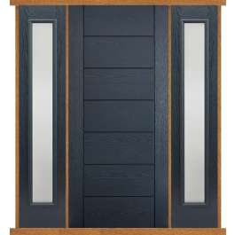 Modica Grey Composite Double Side Panel Door Set