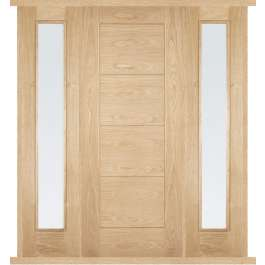 Modica Oak External Double Side Panel Door Set