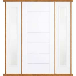 Modica White Composite Double Side Panel Door Set