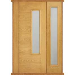 Newbury Oak Composite Side Panel Door Set
