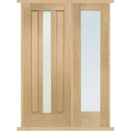 Padova Oak External Side Panel Door Set