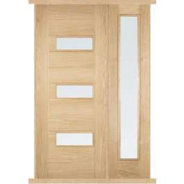 Portomaso Oak External Side Panel Door Set thumbnail