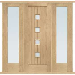 Siena Oak External Double Side Panel Door Set