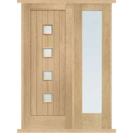 Siena Oak External Side Panel Door Set
