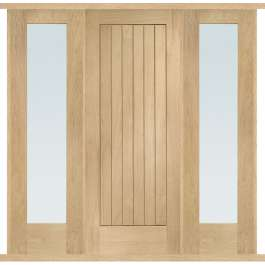 Suffolk Oak External Double Side Panel Door Set