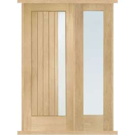 Trieste Oak External Side Panel Door Set