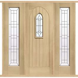 Westminster Oak External Double Side Panel Door Set