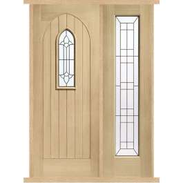 Westminster Oak External Side Panel Door Set