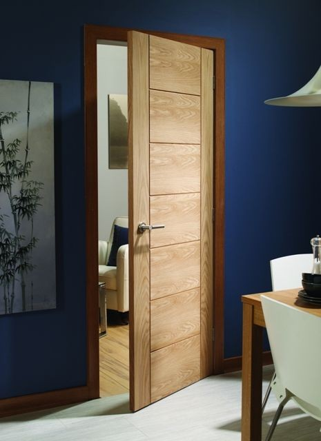 Palermo Oak Fire Door Modern Doors