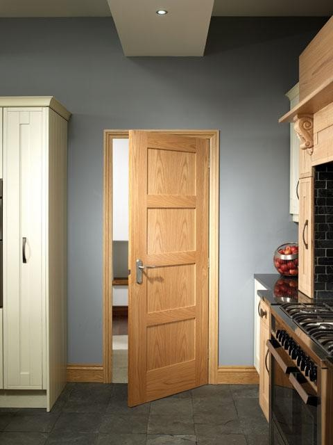 Shaker Oak 4 Panel Fire Door Modern Doors